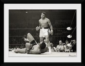Muhammad Ali - Liston uokvireni plakat - pleksi