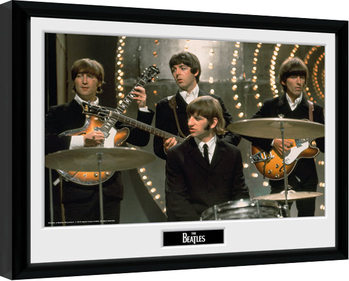 The Beatles - Live uokvireni plakat - pleksi