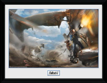 Fallout 4 - Virtibird Door Gunner Uokvireni plakat - pleksi