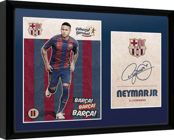 Barcelona - Neymar Vintage 16/17 Uokvirjeni plakat