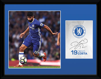 Chelsea - Costa 16/17 uokvirjen plakat-pleksi