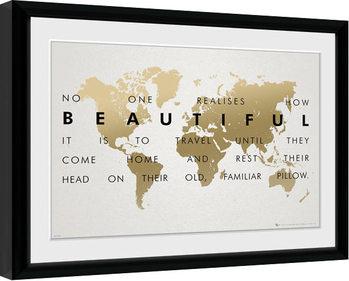 Travel uokvirjen plakat-pleksi