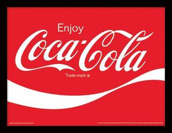 Coca-Cola - Logo Uokvirjen plakat-pleksi
