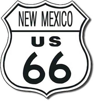 US 66 - new mexico Plaque métal décorée