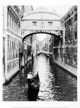 Venice Canal Festmény reprodukció