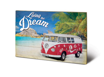 Poster su legno VW - Living the Dream