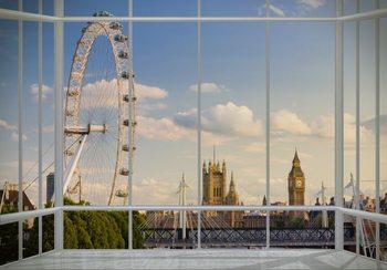 London - fenêtre Poster Mural