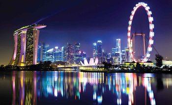 Singapore horizon de la ville Poster Mural