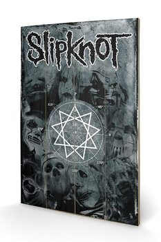 Obraz na dřevě - Slipknot - Pentagram