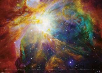 Imagination - nebula XXL plakat