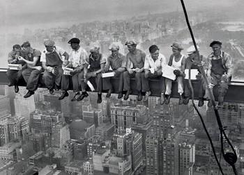 Lunch on a skyscraper XXL plakat