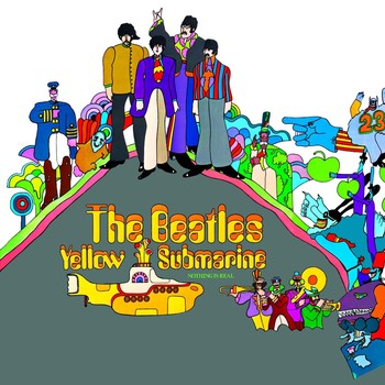 YELLOW SUBMARINE ALBUM COVER Metalplanche