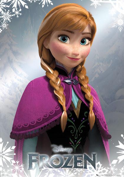 Μεταλλική αφίσα Frozen - Anna