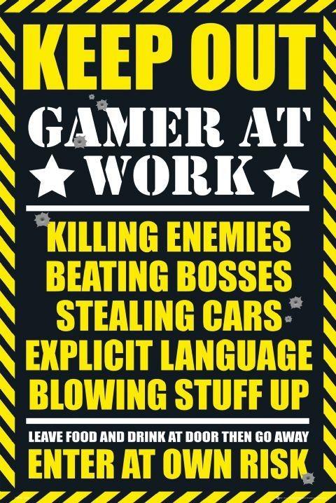Αφίσα  Gaming - keep out