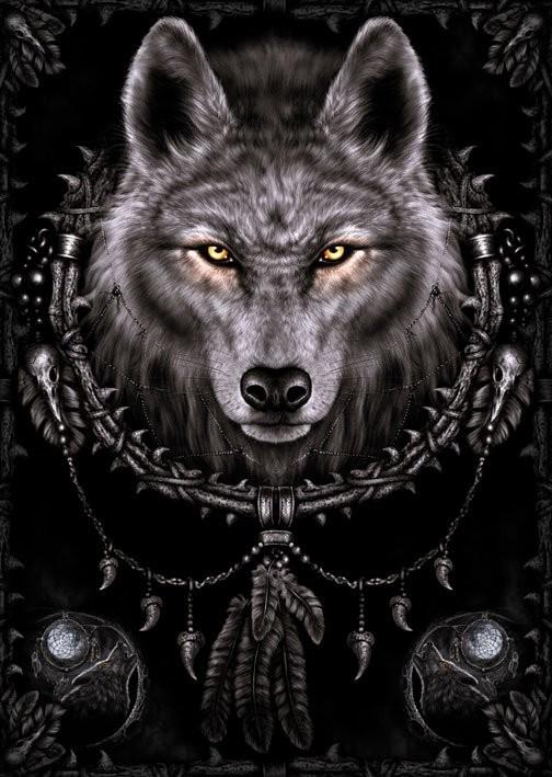 Αφίσα Spiral - wolf dreams