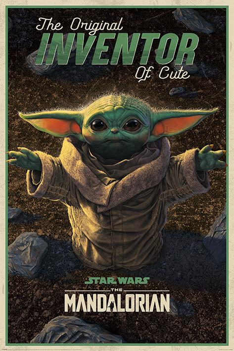 Αφίσα Star Wars: The Mandalorian - The Original Inventor of Cute