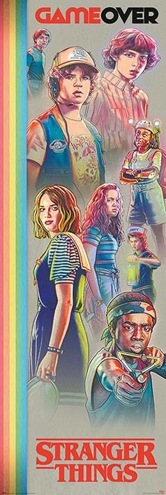 Αφίσα πόρτας Stranger Things - Game Over