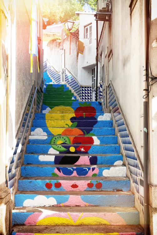 Εκτύπωση καμβά Tropical Staircase