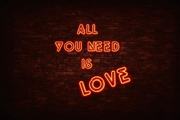 Ταπετσαρία τοιχογραφία All you need is love