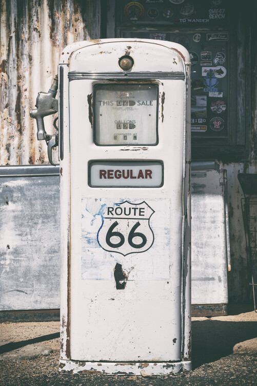 Ταπετσαρία τοιχογραφία American West - Regular 66 Gas Station