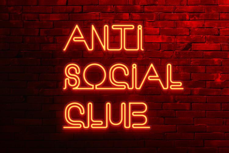 Ταπετσαρία τοιχογραφία Anti social club
