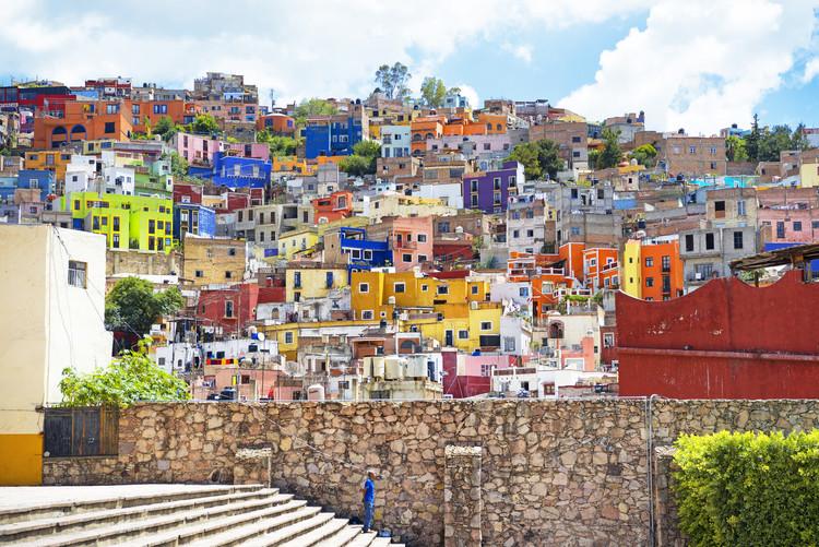 Ταπετσαρία τοιχογραφία Architecture Guanajuato
