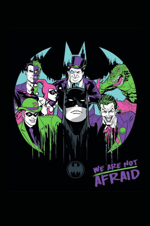Ταπετσαρία τοιχογραφία Batman and his enemies