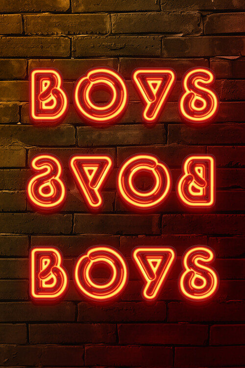 Ταπετσαρία τοιχογραφία BOYS BOYS BOYS