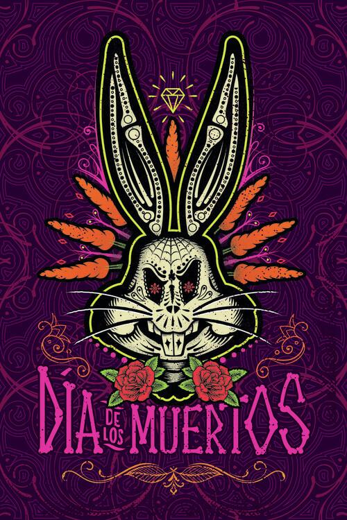 Ταπετσαρία τοιχογραφία Bugs Bunny - Денят на мъртвите