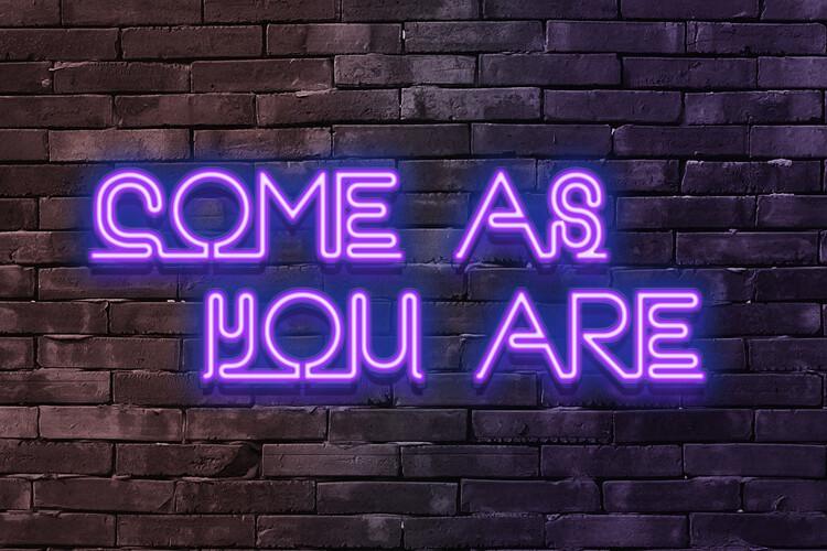 Ταπετσαρία τοιχογραφία Come as you are