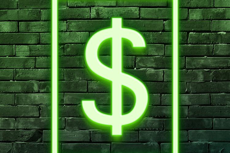 Ταπετσαρία τοιχογραφία Dollars