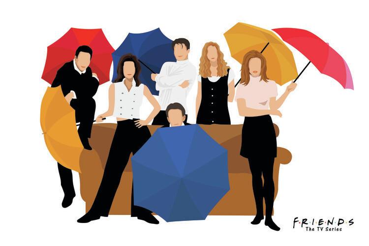 Ταπετσαρία τοιχογραφία Friends - 1994