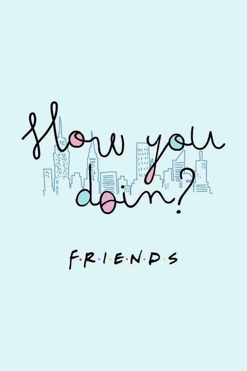 Ταπετσαρία τοιχογραφία Friends - How you doin?