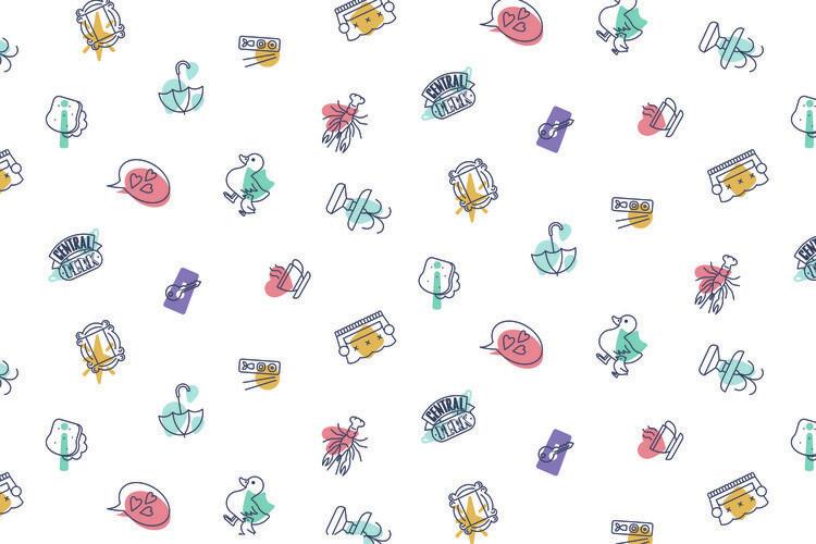 Ταπετσαρία τοιχογραφία Friends - Icons