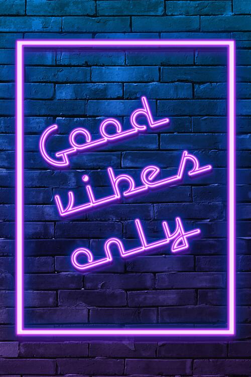 Ταπετσαρία τοιχογραφία Good vibes only