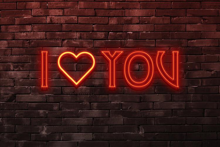 Ταπετσαρία τοιχογραφία I love you