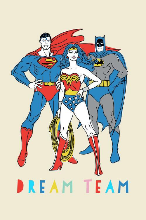 Ταπετσαρία τοιχογραφία Justice League - Dream Team