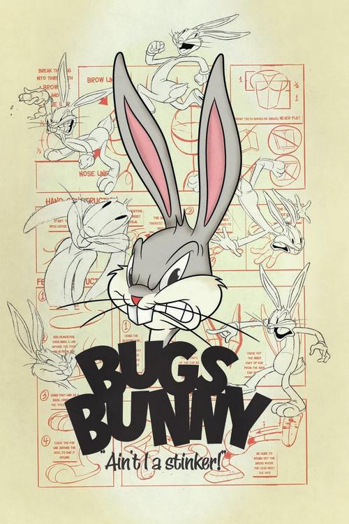 Ταπετσαρία τοιχογραφία Looney Tunes - Bugs Bunny
