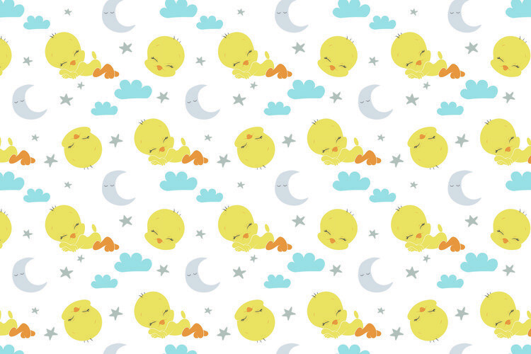 Ταπετσαρία τοιχογραφία Looney Tunes - Sleeping Tweety