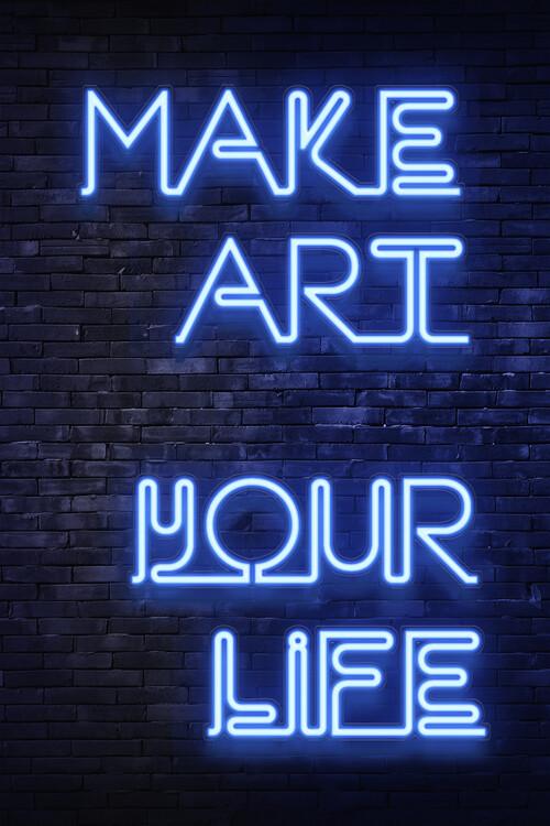 Ταπετσαρία τοιχογραφία Make art your life
