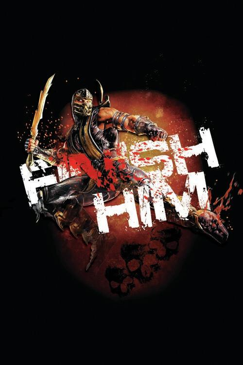 Ταπετσαρία τοιχογραφία Mortal Kombat - Finish him