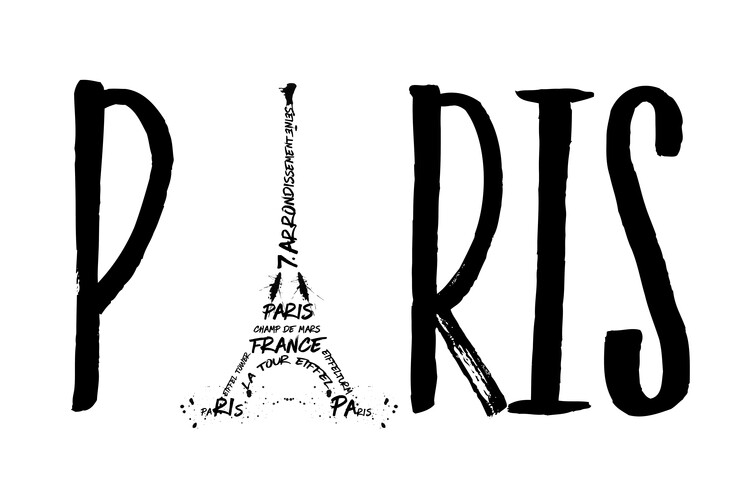 Ταπετσαρία τοιχογραφία Paris