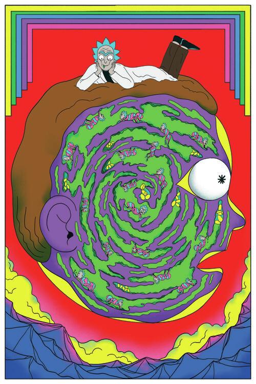 Ταπετσαρία τοιχογραφία Rick & Morty - Labyrinth