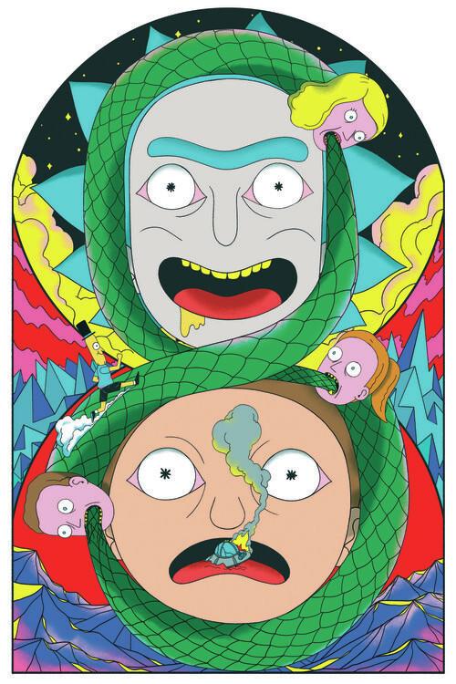 Ταπετσαρία τοιχογραφία Rick & Morty - Never ending