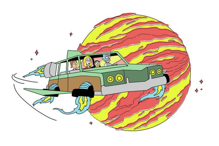 Ταπετσαρία τοιχογραφία Rick & Morty - Trip