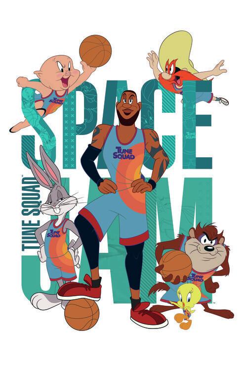 Ταπετσαρία τοιχογραφία Space Jam 2 - Tune Squad 1