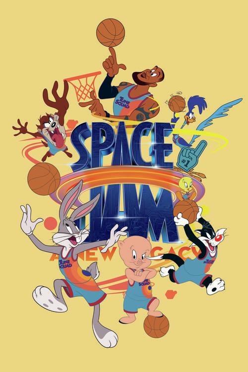 Ταπετσαρία τοιχογραφία Space Jam 2 - Tune Squad  2