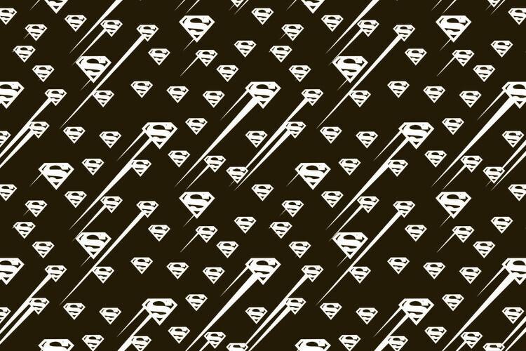 Ταπετσαρία τοιχογραφία Superman - Black and white symbol