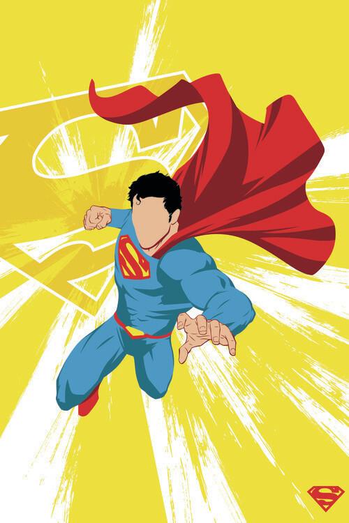 Ταπετσαρία τοιχογραφία Superman - Power Yellow