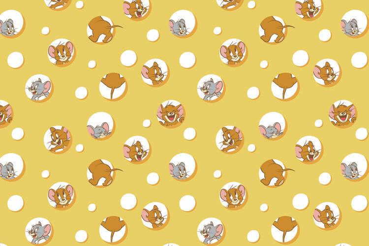 Ταπετσαρία τοιχογραφία Tom and Jerry - I love Cheese